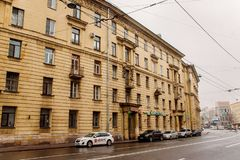 Suvorovskyi远景的一个五层房子 库存图片
