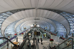 Suwanabhumi机场, Bangk机场主楼  库存图片