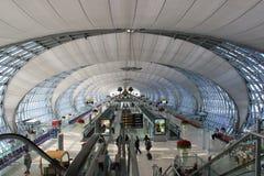 Suwanabhumiluchthaven, de belangrijkste luchthaven van Bangk Stock Afbeeldingen