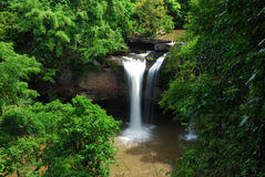 Suwat waterfall bellow, Thailand Royalty Free Stock Photos