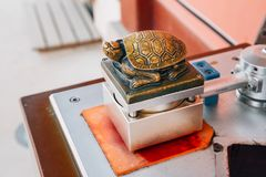 Golden turtle shape stamp in Suwon, Korea