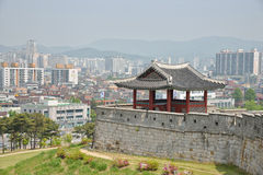 SUWON, KOREA - MAY 02, 2014: North-West Pavilion of Suwon Hwaseo Stock Photography