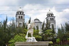 Suyapa教会大教堂在特古西加尔巴,洪都拉斯 免版税库存照片