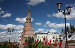 Suyumbike塔在喀山克里姆林宫。俄罗斯 图库摄影