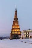 Suyumbike tower. In the Kazan Kremlin Stock Photography