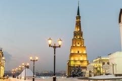 Suyumbike tower in Kazan. Suyumbike tower in the Kazan Kremlin Stock Images