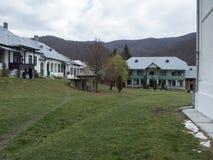Suzana Monastery courtyard, Romania Stock Photography