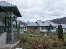 Suzana Monastery courtyard, Romania Stock Photos
