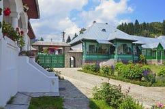 Suzana nuns house. Houses of nuns at Suzana monastery near Ploiesti and Bucharest in Romania stock photo