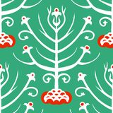 Suzani,  ethnic pattern with Kazakh motifs Stock Images