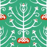 Suzani,  ethnic pattern with Kazakh motifs Stock Images