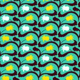 Suzani pattern with Uzbek and Kazakh motifs Stock Photo