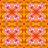 Suzani pattern with Uzbek and Kazakh motifs Stock Images
