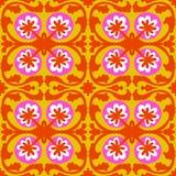 Suzani pattern with Uzbek and Kazakh motifs Stock Images