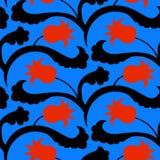 Suzani pattern with Uzbek and Kazakh motifs Royalty Free Stock Images