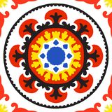 Suzani pattern. Suzani, vector seamless ethnic pattern with Uzbek, Turkish and Kazakh motifs. in bright vibrant colors. Texture for web, print, wallpaper, home Stock Image