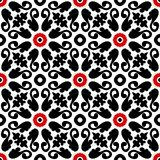 Suzani, vector pattern with bold floral ornament Royalty Free Stock Photo