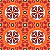 Suzani, vector pattern with bold ornament Royalty Free Stock Image