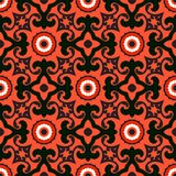 Suzani, vector pattern with bold ornament Stock Images