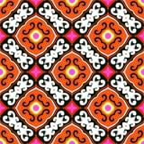 Suzani, vectorpatroon met gewaagd ornament royalty-vrije illustratie
