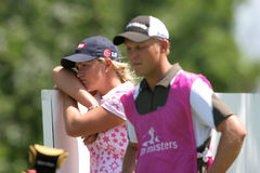 Suzann Pettersen at evian Masters 2007 Royalty Free Stock Images