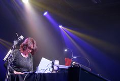 Suzanne Ciani live wide. Composer suzanne Ciani performs live at Sonar Advanced music and arts festival Royalty Free Stock Photography