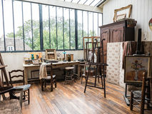 Suzanne Valadon painting studio in Musee de Montmartre, Paris Royalty Free Stock Photography