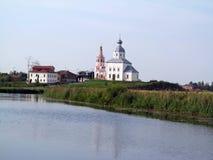 Suzda l-俄罗斯的金黄圆环 库存照片