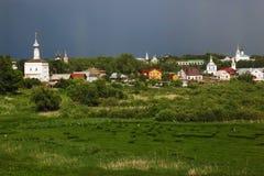 Suzdal à l'orage Photo libre de droits