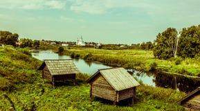 suzdal ξύλινος της Ρωσίας μουσείων αρχιτεκτονικής Στοκ Εικόνες