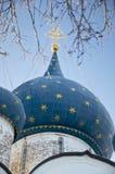 大教堂圆顶suzdal克里姆林宫的诞生 图库摄影