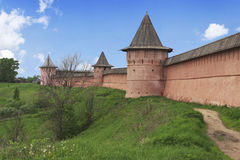 Suzdal ancient Kremlin in spring day Royalty Free Stock Photo