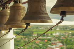 Suzdal, belfry. The bells of the ancient town of Suzdal beautiful ringing Russia Orthodox Christian pilgrims Stock Image