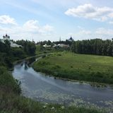 Suzdal. Field Russia river beauty nature earth church Royalty Free Stock Photography