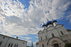 The Suzdal Kremlin with blue domes. Russia Stock Photography