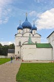 The Suzdal Kremlin with blue domes. Russia Stock Images