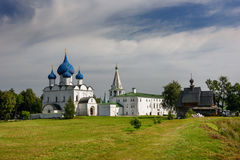 Suzdal Kremlin. Suzdal, Golden Ring of Russia. Churches of the ancient Suzdal Kremlin. Suzdal, Golden Ring of Russia Stock Image
