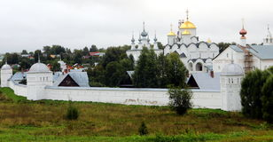 Suzdal, Kremlin. Suzdal is a town  in Vladimir Oblast, Russia, located on the Kamenka River. Suzdal is one of the oldest Russian towns. Nowadays it is the Royalty Free Stock Photography