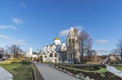 Suzdal, Rosja -06 11 2015 Intercesi katedra przy St Pokrovsky monasterem budował w xvi wiek Złota Ringowa podróż Zdjęcie Stock