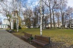 Suzdal, Rusia -06 11 2015 Parque en el territorio Foto de archivo