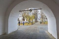 Suzdal, Rusia -06 11 2015 Parque en el territorio Foto de archivo libre de regalías