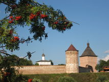 Suzdal, Russia. Middle-ages monastery, build like fortress, in famous historic town Suzdal, Russia Stock Images