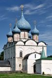 Nativity Church of Suzdal Kremlin. SUZDAL, RUSSIA - The ancient cathedral of the Nativity of the Virgin is located in Suzdal Kremlin. Constructed in 1225 it is Royalty Free Stock Photo
