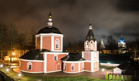 Suzdal, Russia. Church of the Assumption, the bell tower of Suzdal Kremlin at night in spring.  Royalty Free Stock Image