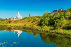 Suzdal, Russia: landscape with an old historical architecture stock photos