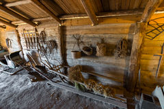 Suzdal, Russia - November 06, 2015.  interior of peasant houses in  Museum  Wooden Architecture Royalty Free Stock Photos