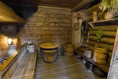 Suzdal, Russia - November 06, 2015.  interior of peasant houses in  Museum  Wooden Architecture Stock Image