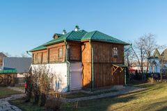 Suzdal, Russia - November 06, 2015.    Museum Wooden Architecture in  golden tourist ring Stock Photography