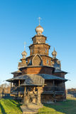 Suzdal, Russia - November 06, 2015.    Museum Wooden Architecture in  golden tourist ring Royalty Free Stock Photo