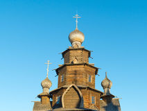 Suzdal, Russia - November 06, 2015.    Museum Wooden Architecture in  golden tourist ring Royalty Free Stock Images